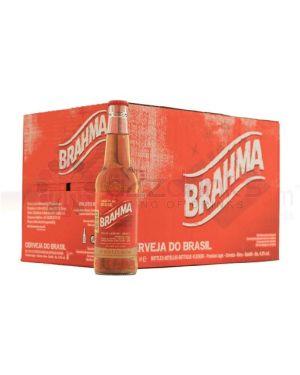 Brahma - Premium Brazilian Pale Lager Beer Bottle- 24 x 330 ml - 5% ABV