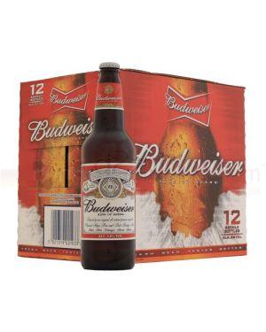 Budweiser - Premium United Statesn Lager Beer Bottle - 12 x 660 ml - 4.8% ABV