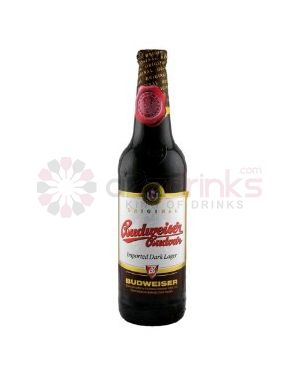 Budweiser Budvar Dark - Premium Czech Republic Lager Beer Bottle - 20 x 500 ml - 4.7% ABV