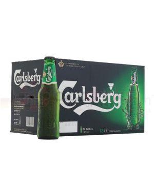 Carlsberg - Premium Danish Lager Beer Bottle - 24 x 275 ml - 3.8% ABV