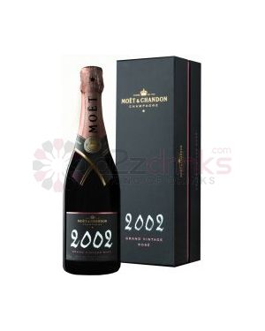 Moet and Chandon - 2002 - Rose Grand Vintage Champagne - 75cl - 12.5% ABV