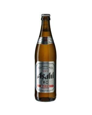 Asahi - Super Dry Japanese Premium Lager Beer Bottle - 12 x 500 ml - 5% ABV