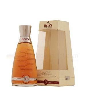Bells 8 yo - Glass Millennium Decanter - Blended Scotch Whisky - 70 cl - 40% ABV