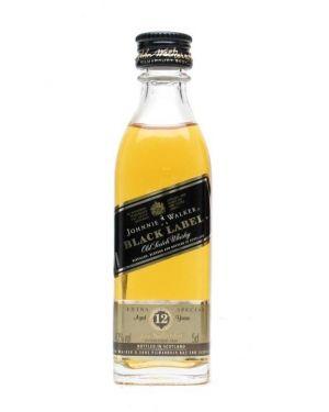 Johnnie Walker - Black Label 12 yo - Blended Scotch Whisky Miniature- 5cl - 40% ABV