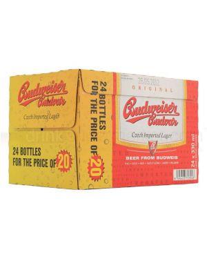Budweiser Budvar - Premium Czech Republic Lager Beer Bottle - 24 x 330 ml - 5% ABV