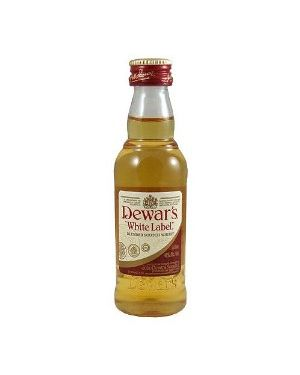 Dewars - White Label - Blended Scotch Whisky - 5cl - 40% ABV