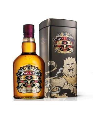 Chivas Regal 12 yo - Blended Scotch Whisky - Metal Tin Presentation - 70cl - 40% ABV