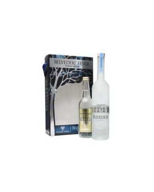Belvedere Pure - Plain Vodka - Limited Edition Fever Tree Gift Pack - 70cl - 40% ABV